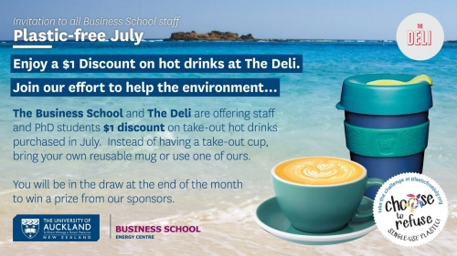 Plastic free July drinks promotion slide